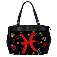 Pisces Floating Zodiac Sign Office Handbags (2 Sides)  by theimagezone