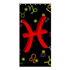 Pisces Floating Zodiac Sign Shower Curtain 36  X 72  (stall)  by theimagezone