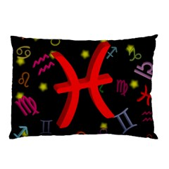 Pisces Floating Zodiac Sign Pillow Cases (two Sides) by theimagezone