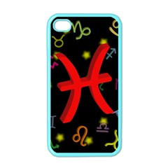 Pisces Floating Zodiac Sign Apple Iphone 4 Case (color) by theimagezone