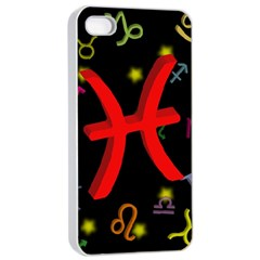 Pisces Floating Zodiac Sign Apple Iphone 4/4s Seamless Case (white) by theimagezone