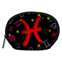 Pisces Floating Zodiac Sign Accessory Pouches (medium)  by theimagezone