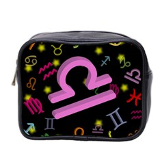 Libra Floating Zodiac Sign Mini Toiletries Bag 2-Side by theimagezone