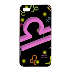 Libra Floating Zodiac Sign Apple Iphone 4/4s Seamless Case (black)
