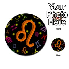 Leo Floating Zodiac Sign Multi Purpose Cards (round)  by theimagezone