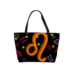 Leo Floating Zodiac Sign Shoulder Handbags by theimagezone