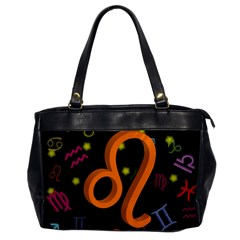 Leo Floating Zodiac Sign Office Handbags by theimagezone