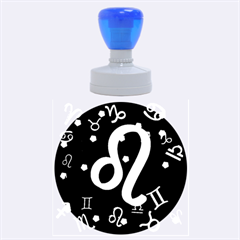 Leo Floating Zodiac Sign Rubber Round Stamps (large) by theimagezone