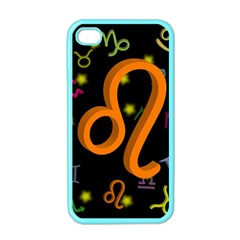 Leo Floating Zodiac Sign Apple Iphone 4 Case (color) by theimagezone