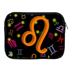 Leo Floating Zodiac Sign Apple Ipad 2/3/4 Zipper Cases by theimagezone