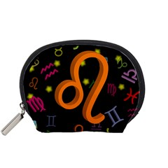 Leo Floating Zodiac Sign Accessory Pouches (small)  by theimagezone
