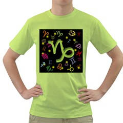 Capricorn Floating Zodiac Sign Green T Shirt by theimagezone
