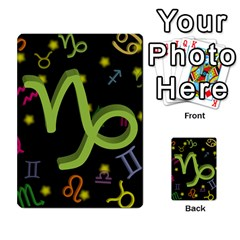Capricorn Floating Zodiac Sign Multi Purpose Cards (rectangle)  by theimagezone