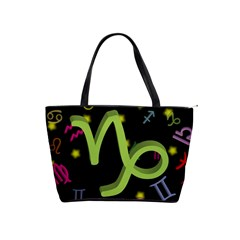 Capricorn Floating Zodiac Sign Shoulder Handbags by theimagezone