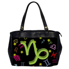 Capricorn Floating Zodiac Sign Office Handbags (2 Sides)  by theimagezone
