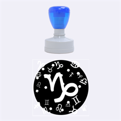Capricorn Floating Zodiac Sign Rubber Round Stamps (medium) by theimagezone