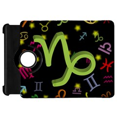 Capricorn Floating Zodiac Sign Kindle Fire Hd Flip 360 Case by theimagezone