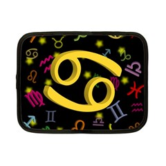 Cancer Floating Zodiac Sign Netbook Case (small)  by theimagezone