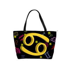 Cancer Floating Zodiac Sign Shoulder Handbags by theimagezone