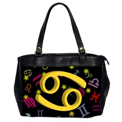 Cancer Floating Zodiac Sign Office Handbags (2 Sides)  by theimagezone
