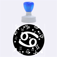 Cancer Floating Zodiac Sign Rubber Round Stamps (large) by theimagezone