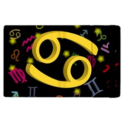 Cancer Floating Zodiac Sign Apple Ipad 3/4 Flip Case by theimagezone