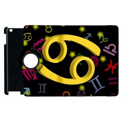 Cancer Floating Zodiac Sign Apple Ipad 3/4 Flip 360 Case by theimagezone