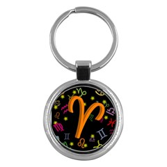 Aries Floating Zodiac Sign Key Chains (Round)  by theimagezone