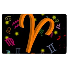 Aries Floating Zodiac Sign Apple Ipad 3/4 Flip Case by theimagezone