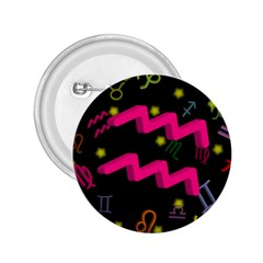Aquarius Floating Zodiac Sign 2 25  Buttons by theimagezone