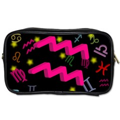 Aquarius Floating Zodiac Sign Toiletries Bags by theimagezone