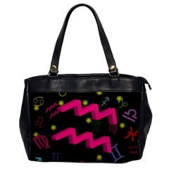 Aquarius Floating Zodiac Sign Office Handbags by theimagezone