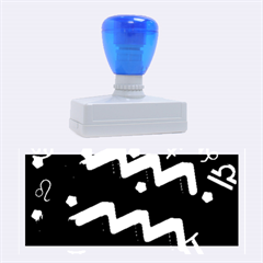 Aquarius Floating Zodiac Sign Rubber Stamps (large) by theimagezone