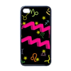Aquarius Floating Zodiac Sign Apple Iphone 4 Case (black) by theimagezone