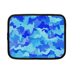 Camouflage Blue Netbook Case (small)  by MoreColorsinLife