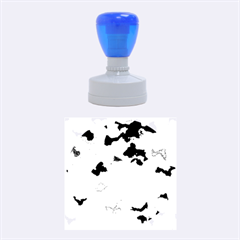 Camouflage Blue Rubber Round Stamps (medium) by MoreColorsinLife