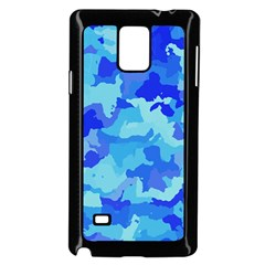 Camouflage Blue Samsung Galaxy Note 4 Case (black) by MoreColorsinLife
