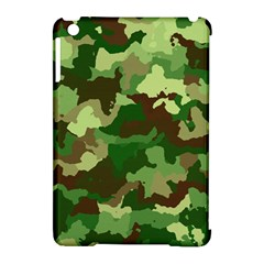 Camouflage Green Apple iPad Mini Hardshell Case (Compatible with Smart Cover) by MoreColorsinLife