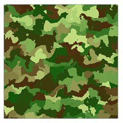 Camouflage Green Large Satin Scarf (square)