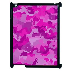Camouflage Hot Pink Apple Ipad 2 Case (black) by MoreColorsinLife