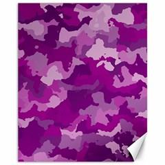 Camouflage Purple Canvas 11  x 14   by MoreColorsinLife
