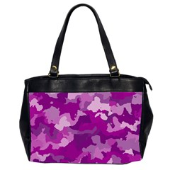 Camouflage Purple Office Handbags (2 Sides)  by MoreColorsinLife