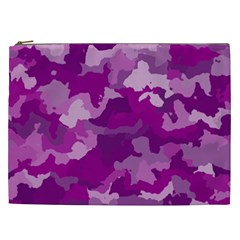 Camouflage Purple Cosmetic Bag (xxl)  by MoreColorsinLife