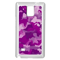 Camouflage Purple Samsung Galaxy Note 4 Case (white) by MoreColorsinLife