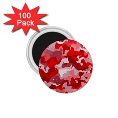 Camouflage Red 1 75  Magnets (100 Pack)  by MoreColorsinLife