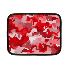 Camouflage Red Netbook Case (Small)  by MoreColorsinLife