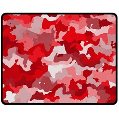 Camouflage Red Fleece Blanket (Medium)  by MoreColorsinLife