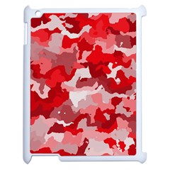 Camouflage Red Apple Ipad 2 Case (white) by MoreColorsinLife