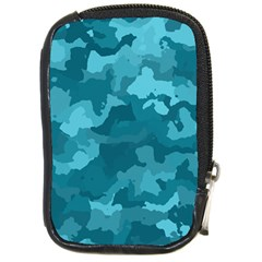 Camouflage Teal Compact Camera Cases by MoreColorsinLife