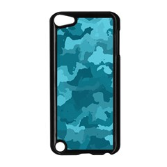 Camouflage Teal Apple Ipod Touch 5 Case (black) by MoreColorsinLife